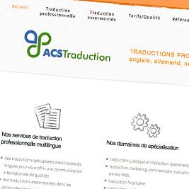 image page d'accueil du site ACS Traduction