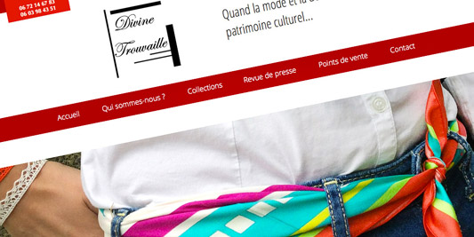 page Collection de la boutique en ligne Divine Trouvaille