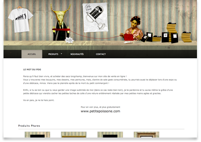 image du site web Petite poissone shop
